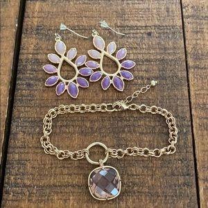 Pretty earrings and bracelet bundle.